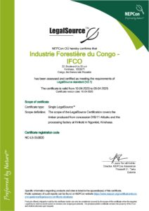 Certificat IFCO LegalSource™